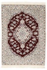 Nain 6La Rug 102X153 Authentic  Oriental Handknotted White/Creme/Light Grey (Wool/Silk, Persia/Iran)