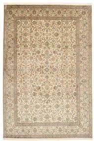 Kashmir Pure Silk Rug 184X276 Authentic  Oriental Handknotted Beige/Light Grey (Silk, India)