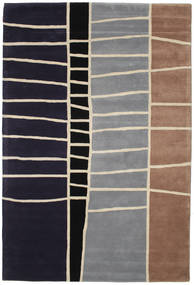 Abstract Bamboo Handtufted Rug 200X300 Modern Dark Purple/Light Grey (Wool, India)