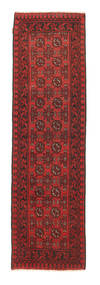 Afghan Rug 78X274 Authentic  Oriental Handknotted Hallway Runner  Dark Red/Rust Red (Wool, Afghanistan)