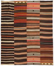 Kilim Patchwork Rug 242X298 Authentic Modern Handwoven Dark Brown/Crimson Red (Wool, Turkey)