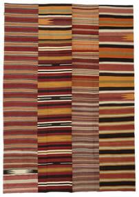 Kilim Patchwork Rug 240X340 Authentic  Modern Handwoven Rust Red/Dark Beige (Wool, Turkey)