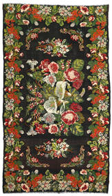 Rose Kelim Rug 214X375 Authentic  Oriental Handwoven (Wool, Moldova)