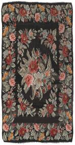 Rose Kelim Rug 171X325 Authentic  Oriental Handwoven Dark Grey/Olive Green (Wool, Moldova)