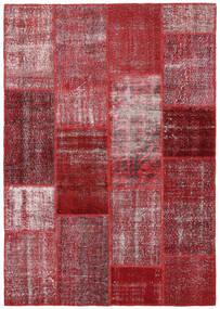 Patchwork Rug 164X234 Authentic  Modern Handknotted Dark Red/Purple (Wool, Turkey)