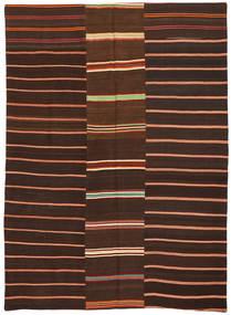 Kilim Patchwork Rug 175X241 Authentic  Modern Handwoven Dark Brown/Dark Red (Wool, Turkey)