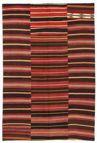 Kilim Patchwork Rug 153X228 Authentic  Modern Handwoven Dark Brown/Dark Red/Rust Red (Wool, Turkey)
