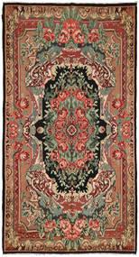 Rose Kelim Rug 216X396 Authentic  Oriental Handwoven Dark Brown/Dark Red (Wool, Moldova)