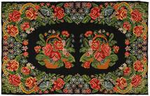 Rose Kelim Rug 191X304 Authentic  Oriental Handwoven Dark Green/Olive Green (Wool, Moldova)
