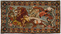 Rose Kelim Rug 223X423 Authentic  Oriental Handwoven Dark Brown/Brown (Wool, Moldova)