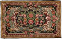 Rose Kelim Rug 220X345 Authentic  Oriental Handwoven Dark Grey/Dark Brown (Wool, Moldova)