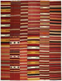 Kilim Patchwork Rug 355X444 Authentic Modern Handwoven Dark Red/Crimson Red Large (Wool, Turkey)
