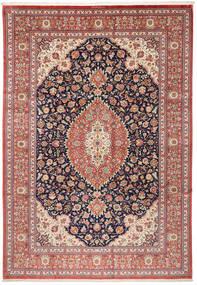 Qum Silk Rug 240X348 Authentic  Oriental Handknotted Brown/Beige (Silk, Persia/Iran)