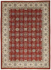 Ilam Sherkat Farsh Silk Rug 250X348 Authentic  Oriental Handknotted Light Grey/Dark Red Large (Wool/Silk, Persia/Iran)
