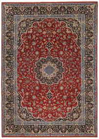 Ilam Sherkat Farsh Silk Rug 245X350 Authentic  Oriental Handknotted Dark Red/Dark Brown/Dark Grey (Wool/Silk, Persia/Iran)