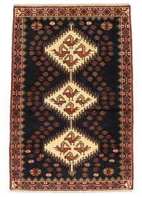 Saveh Rug 73X110 Authentic Oriental Handknotted Black/Dark Red (Wool, Persia/Iran)