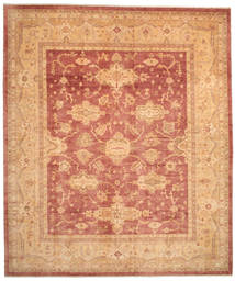 Oushak Rug 375X443 Authentic  Oriental Handknotted Light Brown/Light Pink Large (Wool, Turkey)