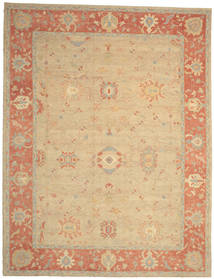 Oushak Rug 370X480 Authentic  Oriental Handknotted Beige/Light Brown Large (Wool, Turkey)