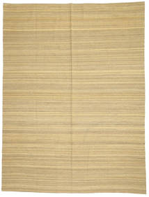 Kilim Modern Rug 214X285 Authentic  Modern Handwoven Dark Beige/Beige (Wool, Afghanistan)
