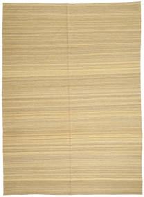 Kilim Modern Rug 206X287 Authentic  Modern Handwoven Dark Beige/Beige (Wool, Afghanistan)