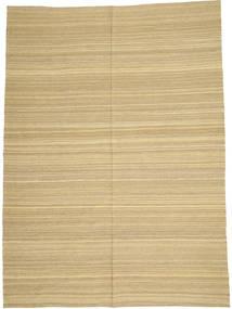 Kilim Modern Rug 205X280 Authentic  Modern Handwoven Dark Beige/Light Green/Beige (Wool, Afghanistan)