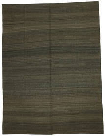 Kilim Modern Rug 216X284 Authentic  Modern Handwoven Dark Brown/Dark Green (Wool, Afghanistan)