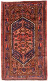 Hamadan Rug 143X247 Authentic  Oriental Handknotted Dark Red/Crimson Red (Wool, Persia/Iran)