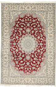 Nain 9La Rug 202X310 Authentic  Oriental Handknotted Light Grey/Beige (Wool/Silk, Persia/Iran)
