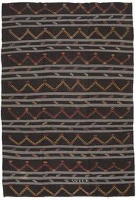 Kilim Semi Antique Turkish Rug 247X363 Authentic  Oriental Handwoven Dark Brown/Dark Grey (Wool, Turkey)