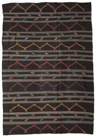 Kilim Semi Antique Turkish Rug 248X357 Authentic  Oriental Handwoven Black/Dark Grey (Wool, Turkey)