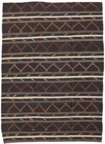 Kilim Semi Antique Turkish Rug 232X337 Authentic  Oriental Handwoven Dark Brown (Wool, Turkey)