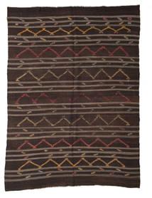 Kilim Semi Antique Turkish Rug 250X340 Authentic  Oriental Handwoven Dark Brown/Brown Large (Wool, Turkey)