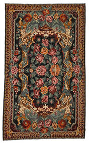 Rose Kelim Moldavia Rug 214X357 Authentic  Oriental Handwoven Dark Brown/Dark Grey (Wool, Moldova)
