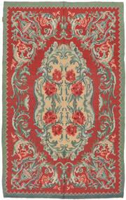 Rose Kelim Moldavia Rug 154X242 Authentic  Oriental Handwoven Rust Red/Olive Green (Wool, Moldova)
