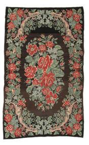 Rose Kelim Moldavia Rug 161X263 Authentic  Oriental Handwoven Hallway Runner  Dark Grey/Light Green (Wool, Moldova)