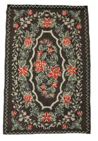 Rose Kelim Moldavia Rug 159X240 Authentic  Oriental Handwoven Dark Grey/Light Grey (Wool, Moldova)