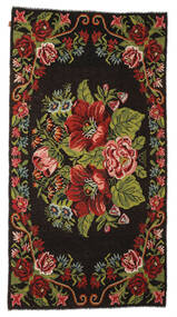 Rose Kelim Moldavia Rug 176X329 Authentic  Oriental Handwoven Dark Brown (Wool, Moldova)