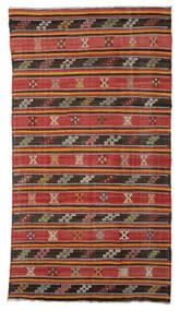 Kilim Semi Antique Turkish Rug 176X315 Authentic  Oriental Handwoven Rust Red/Dark Red (Wool, Turkey)