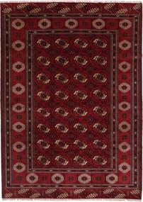 Turkaman Rug 208X287 Authentic Oriental Handknotted Dark Red/Dark Brown (Wool, Persia/Iran)