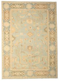 Oushak Rug 333X465 Authentic  Oriental Handknotted Dark Beige/Beige Large (Wool, Turkey)