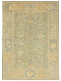 Oushak Rug 305X427 Authentic  Oriental Handknotted Light Green/Beige Large (Wool, Turkey)