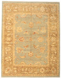 Oushak Rug 308X393 Authentic Oriental Handknotted Dark Beige/Light Brown Large (Wool, Turkey)