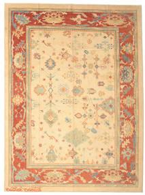 Oushak Rug 286X387 Authentic  Oriental Handknotted Beige/Dark Beige Large (Wool, Turkey)