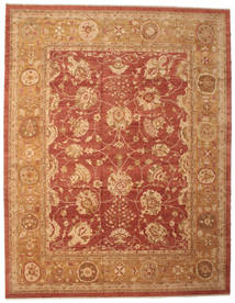 Oushak Rug 382X493 Authentic Oriental Handknotted Light Brown/Crimson Red Large (Wool, Turkey)