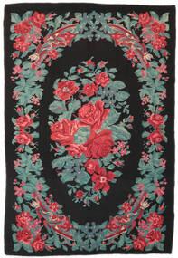 Rose Kelim Moldavia Rug 173X247 Authentic  Oriental Handwoven Black/Turquoise Blue (Wool, Moldova)
