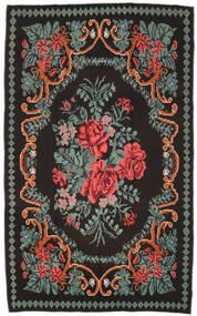 Rose Kelim Moldavia Rug 171X278 Authentic  Oriental Handwoven Black/Dark Grey (Wool, Moldova)