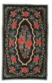 Rose Kelim Moldavia Rug 154X258 Authentic  Oriental Handwoven Dark Brown/Dark Grey (Wool, Moldova)