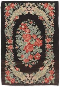 Rose Kelim Moldavia Rug 169X252 Authentic  Oriental Handwoven Black/Dark Beige (Wool, Moldova)