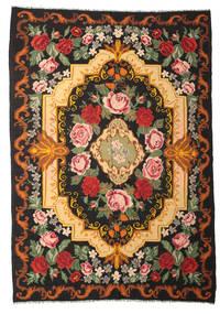 Rose Kelim Moldavia Rug 245X347 Authentic  Oriental Handwoven Black/Crimson Red (Wool, Moldova)
