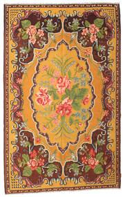 Rose Kelim Moldavia Rug 187X298 Authentic  Oriental Handwoven Dark Brown/Orange (Wool, Moldova)